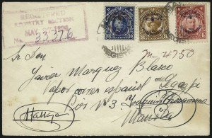 Sale Number 1067, Lot Number 1954, U.S. Possessions: Philippines, Air Post thru Postage DuePHILIPPINES, 1926, 4c, 8c, 10c Madrid-Manila Flight Issue, Air Post (C2, C4-C5), PHILIPPINES, 1926, 4c, 8c, 10c Madrid-Manila Flight Issue, Air Post (C2, C4-C5)