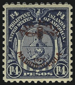 Sale Number 1067, Lot Number 1958, U.S. Possessions: Philippines, Air Post thru Postage DuePHILIPPINES, 1926, 4p Dark Blue, Air Post (C14), PHILIPPINES, 1926, 4p Dark Blue, Air Post (C14)