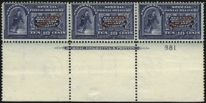 Sale Number 1067, Lot Number 1963, U.S. Possessions: Philippines, Air Post thru Postage DuePHILIPPINES, 1901, 10c Dark Blue, Special Delivery (E1), PHILIPPINES, 1901, 10c Dark Blue, Special Delivery (E1)