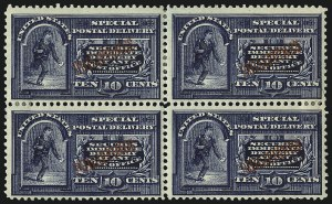 Sale Number 1067, Lot Number 1964, U.S. Possessions: Philippines, Air Post thru Postage DuePHILIPPINES, 1901, 10c Dark Blue, Special Delivery (E1), PHILIPPINES, 1901, 10c Dark Blue, Special Delivery (E1)