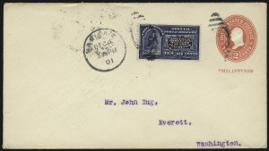 Sale Number 1067, Lot Number 1965, U.S. Possessions: Philippines, Air Post thru Postage DuePHILIPPINES, 1901, 10c Blue, Special Delivery, Five Dots in Curved Frame Above Messenger (E1a), PHILIPPINES, 1901, 10c Blue, Special Delivery, Five Dots in Curved Frame Above Messenger (E1a)