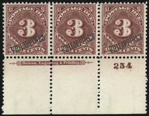Sale Number 1067, Lot Number 1972, U.S. Possessions: Philippines, Air Post thru Postage DuePHILIPPINES, 1899, 1c-10c Postage Due (J1-J4, J6), PHILIPPINES, 1899, 1c-10c Postage Due (J1-J4, J6)