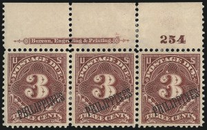 Sale Number 1067, Lot Number 1973, U.S. Possessions: Philippines, Air Post thru Postage DuePHILIPPINES, 1899, 1c-10c Postage Due (J1-J4, J6), PHILIPPINES, 1899, 1c-10c Postage Due (J1-J4, J6)