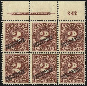 Sale Number 1067, Lot Number 1979, U.S. Possessions: Philippines, Air Post thru Postage DuePHILIPPINES, 1899, 2c Deep Claret, Postage Due (J2), PHILIPPINES, 1899, 2c Deep Claret, Postage Due (J2)