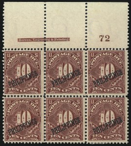 Sale Number 1067, Lot Number 1983, U.S. Possessions: Philippines, Air Post thru Postage DuePHILIPPINES, 1899, 10c Deep Claret, Postage Due (J4), PHILIPPINES, 1899, 10c Deep Claret, Postage Due (J4)