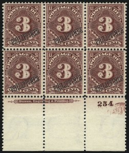 Sale Number 1067, Lot Number 1987, U.S. Possessions: Philippines, Air Post thru Postage DuePHILIPPINES, 1901, 3c Deep Claret, Postage Due (J6), PHILIPPINES, 1901, 3c Deep Claret, Postage Due (J6)