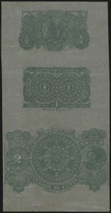Sale Number 1067, Lot Number 467, Revenues: Tax-Paid Tobacco Issues on PaperSeries 1868, Composite Proof on Silver Surface-Colored Paper (Hicks 3), Series 1868, Composite Proof on Silver Surface-Colored Paper (Hicks 3)