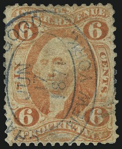 Sale Number 1067, Lot Number 525, Revenues: First Issue6c Proprietary, Perforated (R31c), 6c Proprietary, Perforated (R31c)