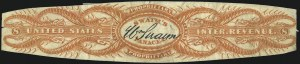 Sale Number 1067, Lot Number 740, Revenues: Private Die Proprietary - Match & MedicineWilliam Swaim, 8c Orange, Die Cut, Old Paper (RS235a), William Swaim, 8c Orange, Die Cut, Old Paper (RS235a)