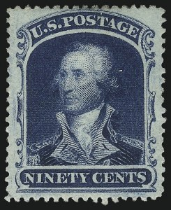 Sale Number 1067, Lot Number 992, 10c-90c 1857-60 Issue (Scott 31-39)90c Blue (39), 90c Blue (39)