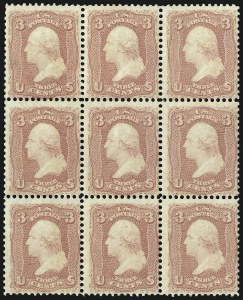 Sale Number 1068, Lot Number 100, 1861-68 Issues and 1875 Re-Issue3c Rose (65), 3c Rose (65)