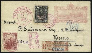 Sale Number 1068, Lot Number 1001, Hawaii: 1893 Provisional Ovpts.HAWAII, 1893, 10c Black, Red Ovpt. (61), HAWAII, 1893, 10c Black, Red Ovpt. (61)