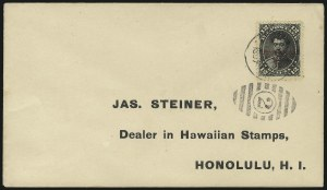 Sale Number 1068, Lot Number 1005, Hawaii: 1893 Provisional Ovpts.HAWAII, 1893, 12c Black, Red Ovpt. (62), HAWAII, 1893, 12c Black, Red Ovpt. (62)