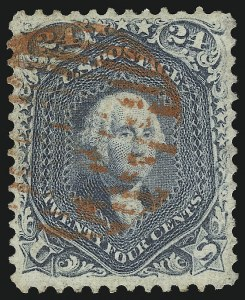 Sale Number 1068, Lot Number 102, 1861-68 Issues and 1875 Re-Issue24c Steel Blue (70b), 24c Steel Blue (70b)