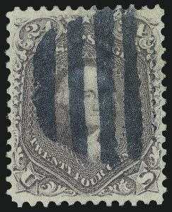 Sale Number 1068, Lot Number 103, 1861-68 Issues and 1875 Re-Issue24c Violet, Thin Paper (70c), 24c Violet, Thin Paper (70c)