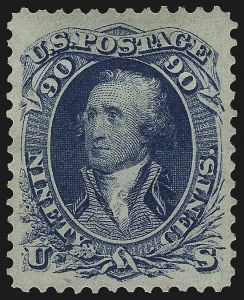 Sale Number 1068, Lot Number 104, 1861-68 Issues and 1875 Re-Issue90c Blue (72), 90c Blue (72)