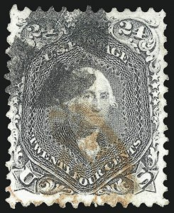 Sale Number 1068, Lot Number 109, 1861-68 Issues and 1875 Re-Issue24c Gray (78b), 24c Gray (78b)