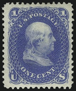 Sale Number 1068, Lot Number 115, 1861-68 Issues and 1875 Re-Issue1c Blue, Re-Issue (102), 1c Blue, Re-Issue (102)