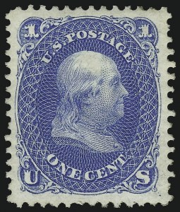Sale Number 1068, Lot Number 116, 1861-68 Issues and 1875 Re-Issue1c Blue, Re-Issue (102), 1c Blue, Re-Issue (102)