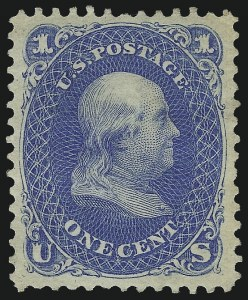 Sale Number 1068, Lot Number 117, 1861-68 Issues and 1875 Re-Issue1c Blue, Re-Issue (102), 1c Blue, Re-Issue (102)