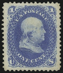 Sale Number 1068, Lot Number 118, 1861-68 Issues and 1875 Re-Issue1c Blue, Re-Issue (102), 1c Blue, Re-Issue (102)