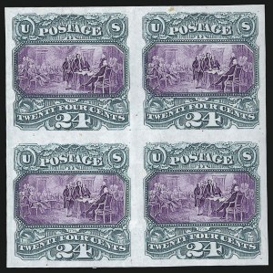 Sale Number 1068, Lot Number 121, 1869 Pictorial Issue and 1875 Re-Issue24c Reddish Lilac, Trial Color Plate Proof on India (120TC3), 24c Reddish Lilac, Trial Color Plate Proof on India (120TC3)