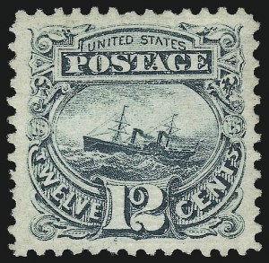 Sale Number 1068, Lot Number 123, 1869 Pictorial Issue and 1875 Re-Issue12c Green (117), 12c Green (117)