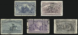 Sale Number 1068, Lot Number 177, 1893 Columbian thru 1894-98 Issues1c-10c Columbian (230-232, 235-237), 1c-10c Columbian (230-232, 235-237)