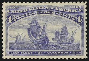 Sale Number 1068, Lot Number 181, 1893 Columbian thru 1894-98 Issues4c Columbian (233), 4c Columbian (233)