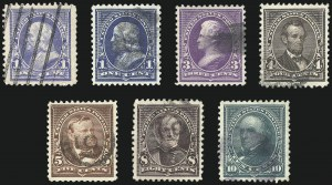 Sale Number 1068, Lot Number 190, 1893 Columbian thru 1894-98 Issues1c-10c 1894 Issue (246-247, 253-255, 257-258), 1c-10c 1894 Issue (246-247, 253-255, 257-258)