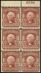 Sale Number 1068, Lot Number 224, 1902-08, Louisiana Purchase Issues1c Blue Green, 2c Carmine, Lake, Booklet Panes of Six (300b, 301c, 319p, 319Fq), 1c Blue Green, 2c Carmine, Lake, Booklet Panes of Six (300b, 301c, 319p, 319Fq)