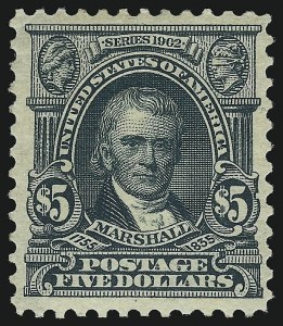 Sale Number 1068, Lot Number 229, 1902-08, Louisiana Purchase Issues$5.00 Dark Green (313), $5.00 Dark Green (313)