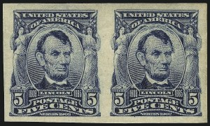 Sale Number 1068, Lot Number 233, 1902-08, Louisiana Purchase Issues5c Blue, Imperforate (315), 5c Blue, Imperforate (315)