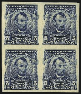 Sale Number 1068, Lot Number 236, 1902-08, Louisiana Purchase Issues5c Blue, Imperforate (315), 5c Blue, Imperforate (315)