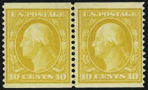 Sale Number 1068, Lot Number 242, Washington-Franklin Issues10c Yellow, Coil (356), 10c Yellow, Coil (356)