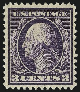 Sale Number 1068, Lot Number 243, Washington-Franklin Issues3c Deep Violet, Bluish (359), 3c Deep Violet, Bluish (359)