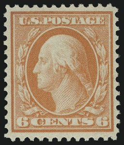 Sale Number 1068, Lot Number 244, Washington-Franklin Issues6c Red Orange, Bluish (362), 6c Red Orange, Bluish (362)