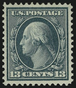 Sale Number 1068, Lot Number 246, Washington-Franklin Issues13c Bluish Green, Bluish (365), 13c Bluish Green, Bluish (365)