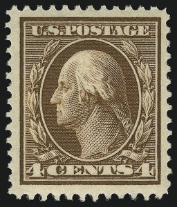 Sale Number 1068, Lot Number 249, Washington-Franklin Issues4c Brown (377), 4c Brown (377)