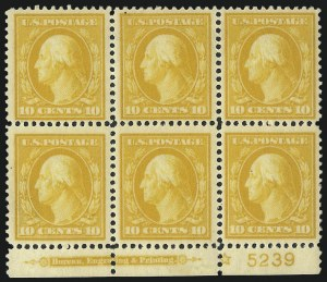 Sale Number 1068, Lot Number 252, Washington-Franklin Issues10c Yellow (381), 10c Yellow (381)