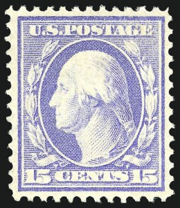 Sale Number 1068, Lot Number 253, Washington-Franklin Issues15c Pale Ultramarine (382), 15c Pale Ultramarine (382)
