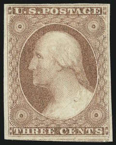 Sale Number 1068, Lot Number 26, 1851 Issue3c Dull Red (11), 3c Dull Red (11)