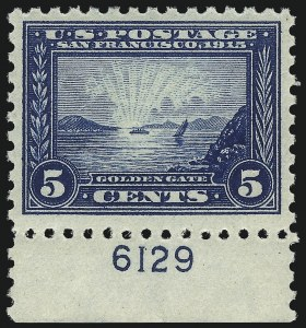 Sale Number 1068, Lot Number 261A, Washington-Franklin Issues5c Panama-Pacific, Perf 10 (403), 5c Panama-Pacific, Perf 10 (403)