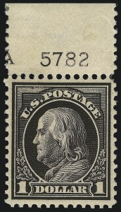 Sale Number 1068, Lot Number 264, Washington-Franklin Issues$1.00 Violet Brown (423), $1.00 Violet Brown (423)