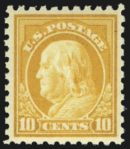Sale Number 1068, Lot Number 267, Washington-Franklin Issues10c Orange Yellow (433), 10c Orange Yellow (433)