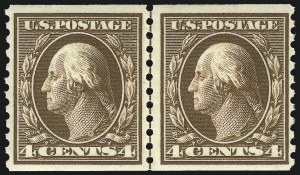 Sale Number 1068, Lot Number 269, Washington-Franklin Issues4c Brown, 5c Blue, Coils (446-447), 4c Brown, 5c Blue, Coils (446-447)