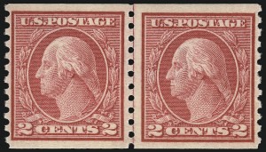 Sale Number 1068, Lot Number 272, Washington-Franklin Issues2c Carmine Rose, Ty. I, Coil (453), 2c Carmine Rose, Ty. I, Coil (453)