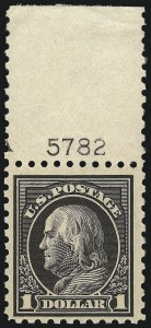 Sale Number 1068, Lot Number 273, Washington-Franklin Issues$1.00 Violet Black (460), $1.00 Violet Black (460)