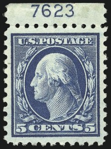 Sale Number 1068, Lot Number 276, Washington-Franklin Issues5c Blue (466), 5c Blue (466)
