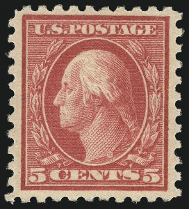 Sale Number 1068, Lot Number 277, Washington-Franklin Issues5c Carmine, Error (467), 5c Carmine, Error (467)